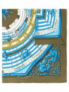 Hermès Pre-Owned sundial print scarf - Blue
