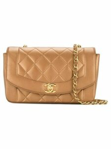 Chanel Pre-Owned quilted CC logo single chain shoulder bag - Metallic