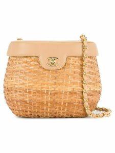 Chanel Pre-Owned chain basket shoulder bag - Brown