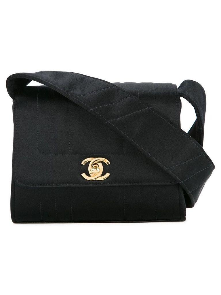 Chanel Vintage Mademoiselle quilted shoulder bag - Black