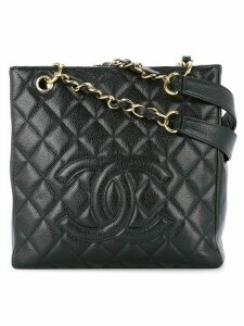Chanel Pre-Owned Quilted chain handbag - Black