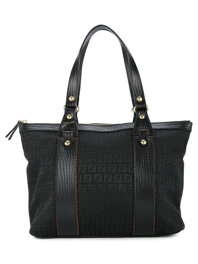 Fendi Vintage Zucca pattern hand tote bag - Black