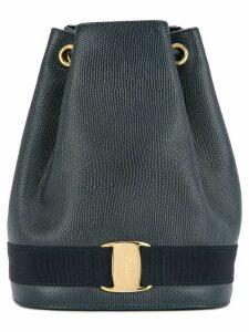 Salvatore Ferragamo Pre-Owned Vara Logos drawstring backpack - Black