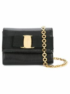 Salvatore Ferragamo Pre-Owned Vara Bow chain shoulder bag - Black