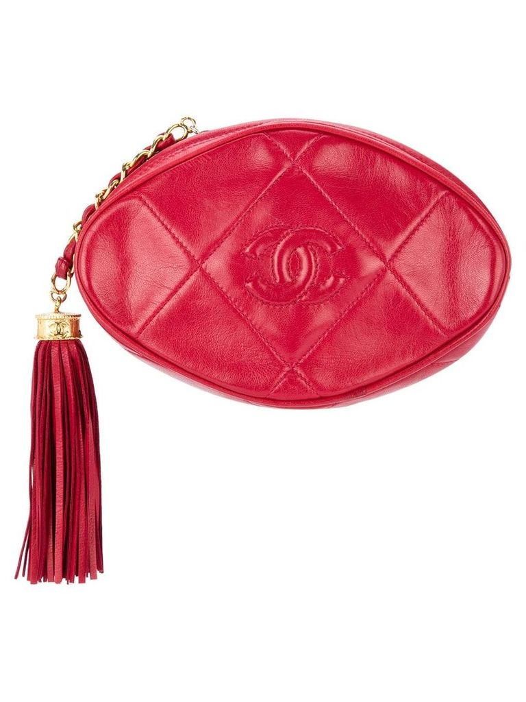 Chanel Vintage tassel detail clutch - Red