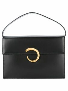 Cartier Pre-Owned panther logo tote bag - Black