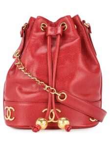 Chanel Pre-Owned logo drawstring shoulder bag - Red