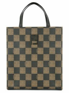Fendi Pre-Owned check 2way tote - Brown
