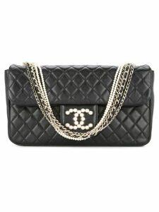 Chanel Pre-Owned multiple chains shoulder bag - Black