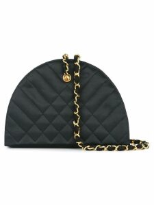 Chanel Pre-Owned 1989-1991 Quilted chain shoulder bag - Black