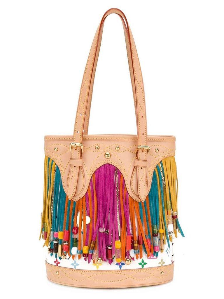 Louis Vuitton Vintage fringed monogram bucket bag - Multicolour