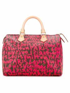 Louis Vuitton Pre-Owned Speedy 30 graffiti handbag - Pink
