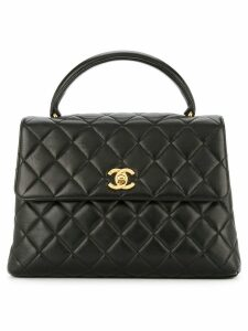 Chanel Pre-Owned top handle quilted bag - Black