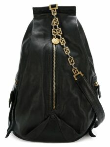 Versace Pre-Owned chain strap backpack - Black