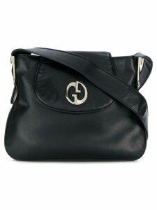 Gucci Pre-Owned logo plaque shoulder bag - Black