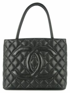 Chanel Pre-Owned diamond quilt tote bag - Black
