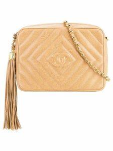 Chanel Pre-Owned quilted fringe shoulder bag - Brown