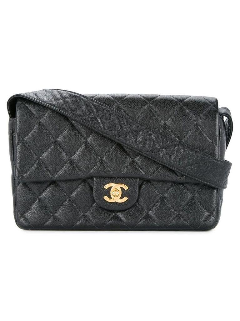 Chanel Vintage quilted CC shoulder bag - Black