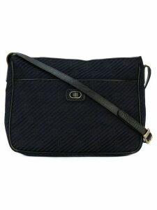 Emilio Pucci Pre-Owned monogram logo shoulder bag - Blue