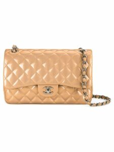 Chanel Pre-Owned quilted double flap bag - Brown