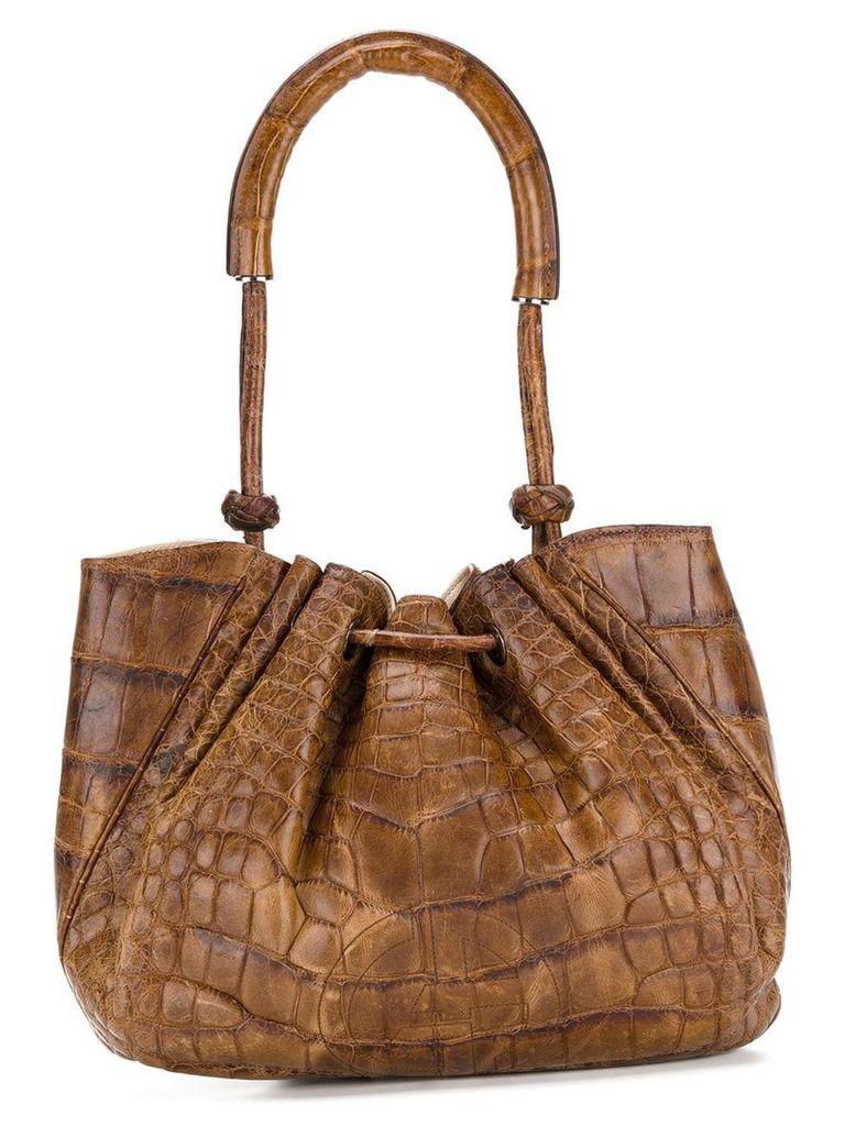 Giorgio Armani Vintage gathered bucket top handle bag - Brown