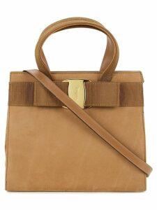 Salvatore Ferragamo Pre-Owned Vara Bow 2 way handbag - Brown