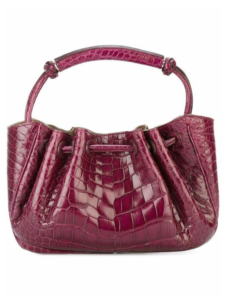 Giorgio Armani Vintage embossed clutch bag - Pink