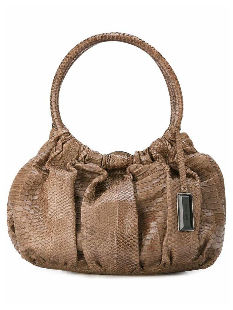 Giorgio Armani Vintage gathered effect tote bag - Neutrals