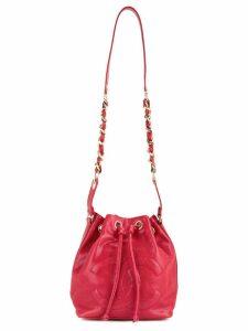 Chanel Vintage CC drawstring chain bucket bag - Red
