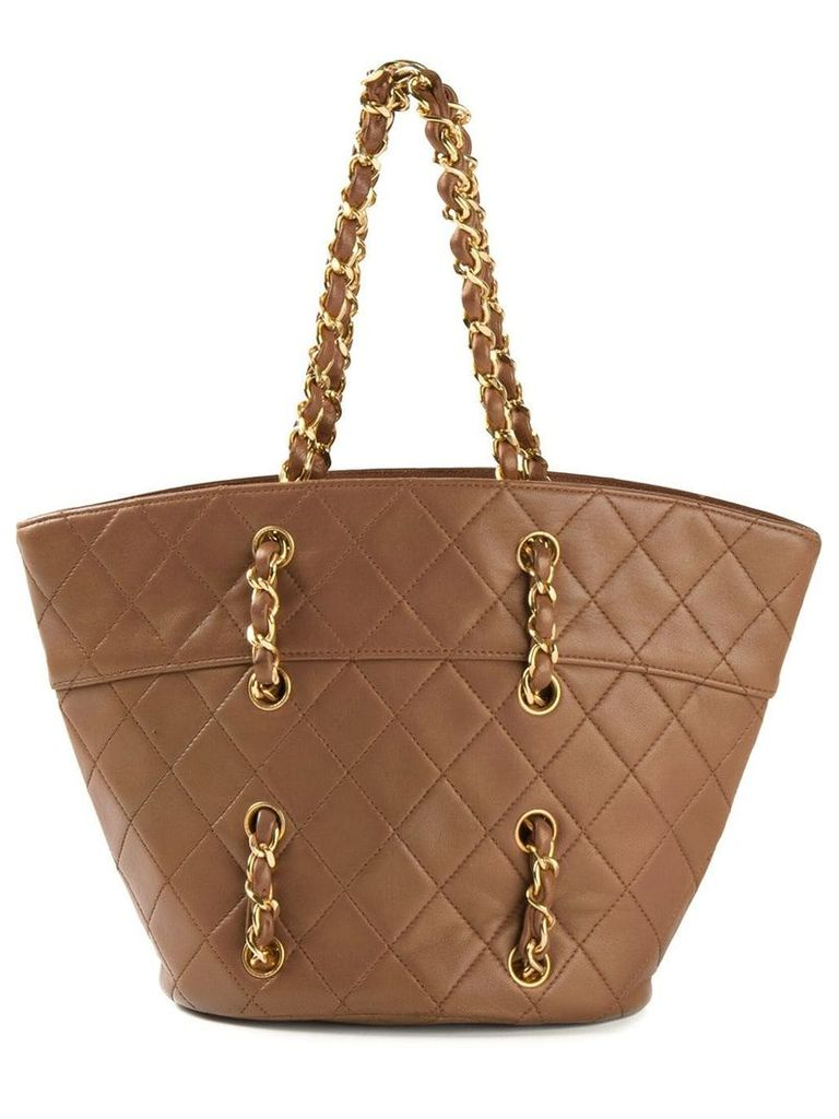 Chanel Vintage small quilted tote - Brown