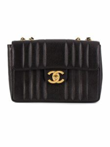 Chanel Pre-Owned jumbo quilted shoulder bag - Black