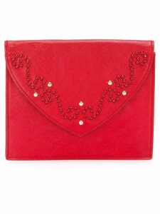 Yves Saint Laurent Pre-Owned studded clutch - Red