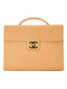 Chanel Pre-Owned CC turnlock briefcase - Brown