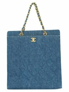 Chanel Pre-Owned CC chain denim tote bag - Blue