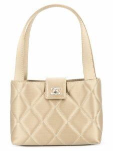 Chanel Pre-Owned CC quilted logo handbag - Neutrals