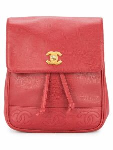 Chanel Pre-Owned CC logos chain backpack - Red