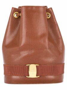 Salvatore Ferragamo Pre-Owned Vara logos backpack - Brown