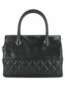 Chanel Pre-Owned diamond quilt detail tote - Black