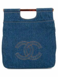 Chanel Pre-Owned interlocking logo tote - Blue