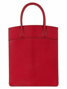 Hermès Pre-Owned White Bass Up tote - Red
