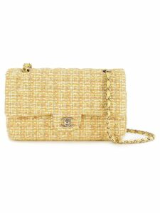 Chanel Pre-Owned chain tweed shoulder bag - Yellow