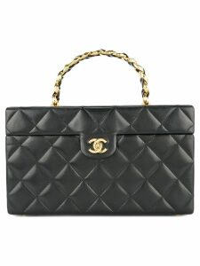 Chanel Pre-Owned Quilted cosmetic handbag - Black