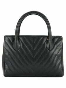 Chanel Pre-Owned V quilt tote - Black