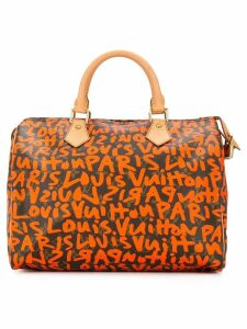 Louis Vuitton Pre-Owned Speedy 30 graffiti handbag - Yellow