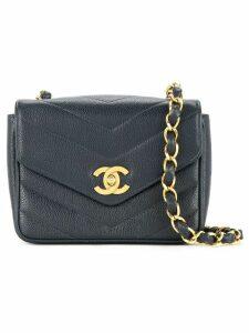 Chanel Pre-Owned V stitch shoulder bag - Blue