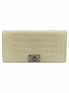 Chanel Pre-Owned crocodile flap clutch - Neutrals