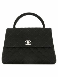 Chanel Pre-Owned 1996-1997 CC quilted handbag - Black