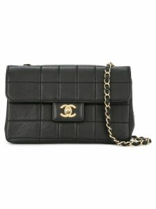 Chanel Pre-Owned 2002-2003 Chocolate Bar quilted CC bag - Black