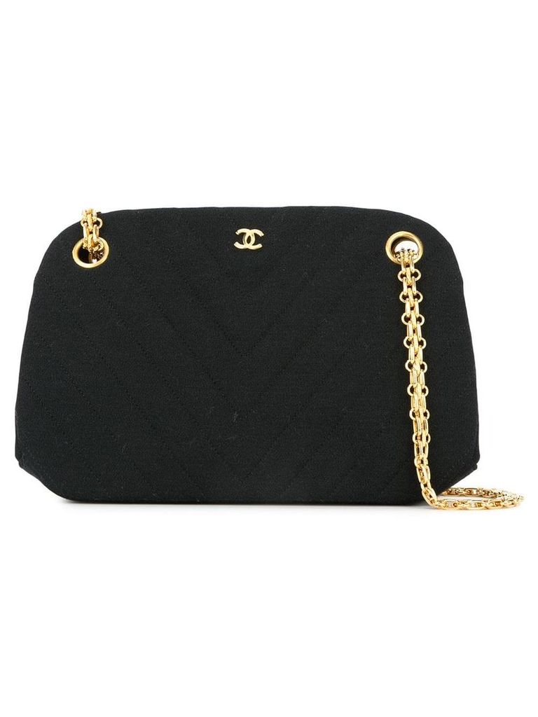 Chanel Vintage V-stitch CC chain bag - Black