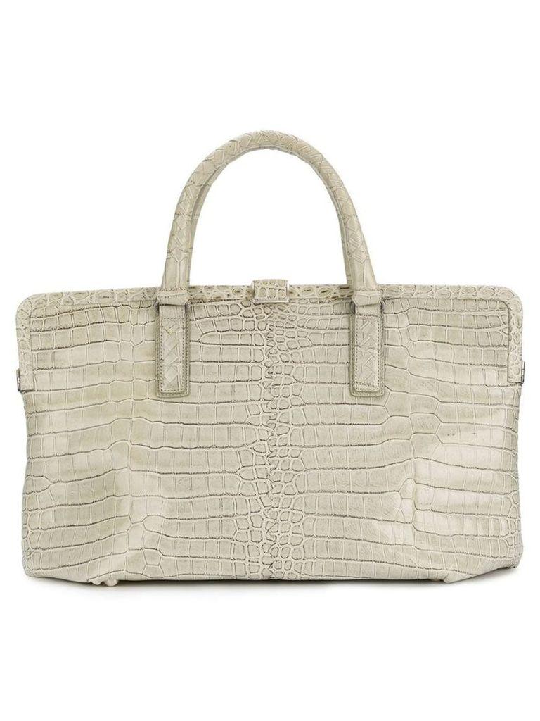 Bottega Veneta Vintage framed handbag - Neutrals